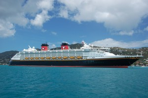 Disney Magic Cruise Ship in St. Thomas