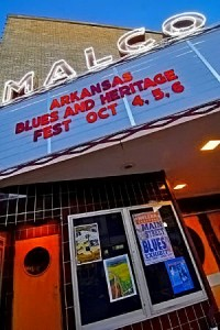 Marquee for Arkansas Blues and Heritage Festival