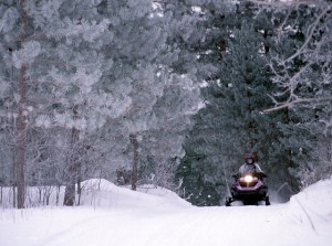 Snowmobiling at Chipewa Forest, Minnesota, photo courtesy of ©Explore Minnesota Tourism