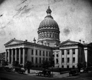 Old Courthouse, St. Louis, Missouri. Photo circa 1862