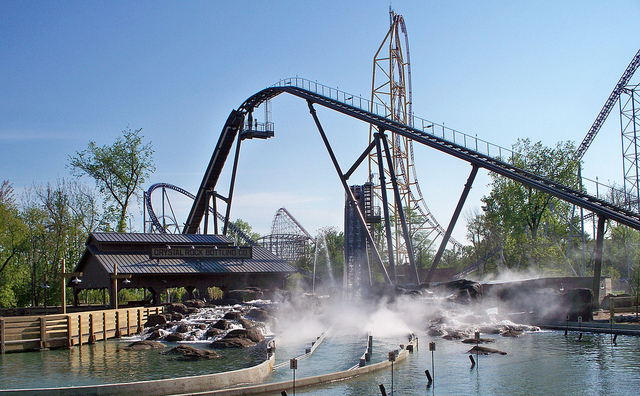 Shoot the Rapids ride at Cedar Point, Ohio